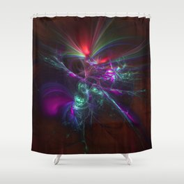 Burst of Confusion Shower Curtain