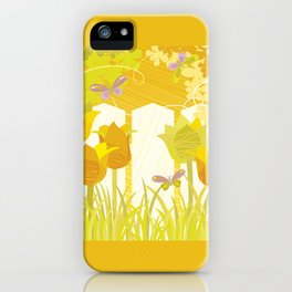 Sunny Spring Garden iPhone Case