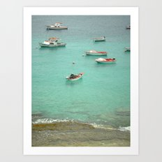 Fishermen at the Shore Art Print