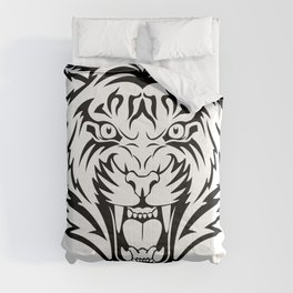 Tiger linear vector Comforters