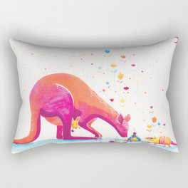 Princess Kangaroo Art Print - Armadillo's Generous Offering Rectangular Pillow