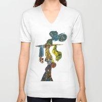 dancer V-neck T-shirts featuring dancer by Marie Elke Gebhardt