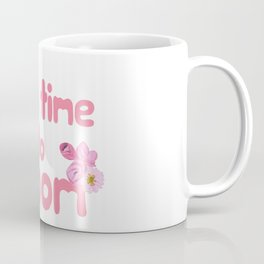 It's Time to Bloom Motivational Collage Coffee Mug