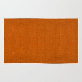 """Orange Burlap Texture (Pattern)"" Rug"
