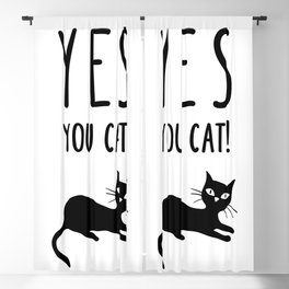 YES You Cat Blackout Curtain