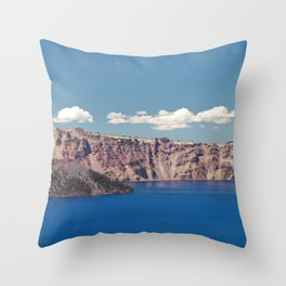 Crater Lake, Mount Mazama, Oregon, Northwest Mountain Throw Pillow