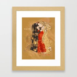 The Invention of the Kiss Framed Art Print
