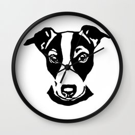 AMAZING  CHRISTMAS GIFTS OF THE JACK RUSSELL TERRIER FROM MONOFACES IN 2021 Wall Clock