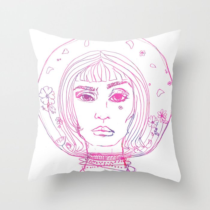 Barbarella Space Princess Throw Pillow