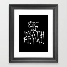 KITTENS COFFEE DEATH METAL Framed Art Print