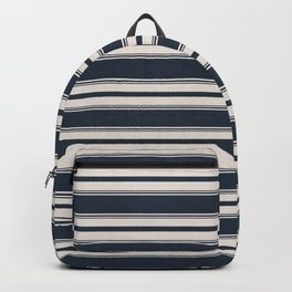Classic Horizontal Stripe in Navy Backpack