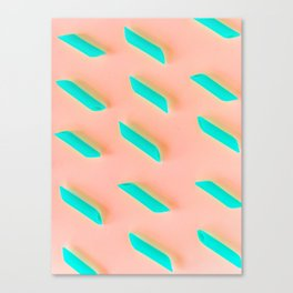 Neon Abstract Pasta Noodles Pattern (Color) Canvas Print