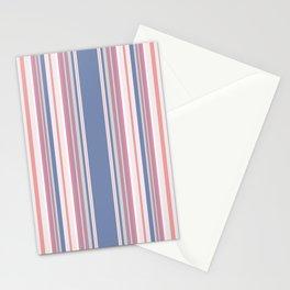 Vintage salmon vertical stripes pattern Stationery Cards