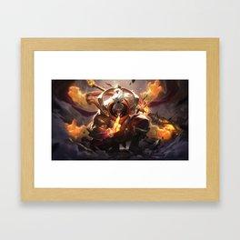 God Staff Jax League of Legends Framed Art Print