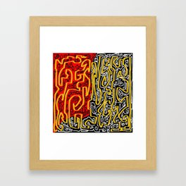 Laberinto red black Framed Art Print