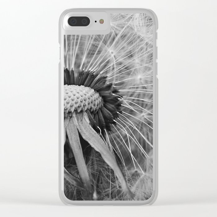 Dandelion Black and White Photography | Nature Art | Plant | Botanical | Wish Clear iPhone Case