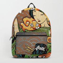 Samurai Woman, Geisha Warrior, Ronin, Gift to Any Martial Arts Girl Backpack