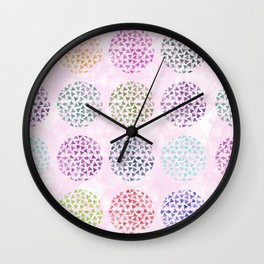 colorful geometric Wall Clock