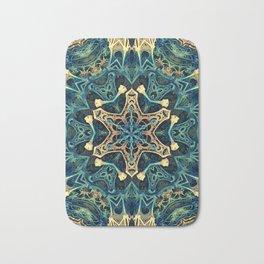 Mandala Star Fractal - Manafold Art - Mandlebulb Bath Mat