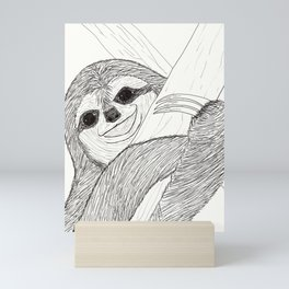 Smiley Sloth Mini Art Print
