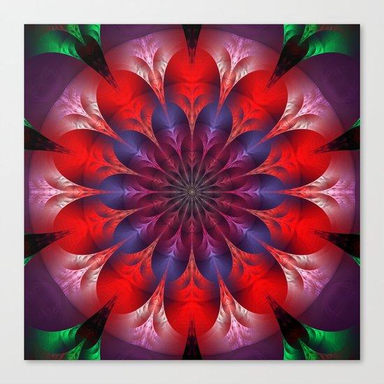 Blooming mandala Canvas Print