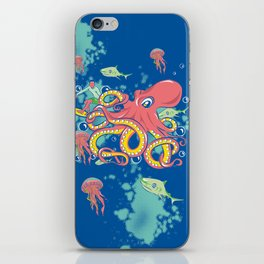 Octopus and Friends iPhone Skin