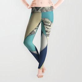 Colorful Currency Collage Leggings