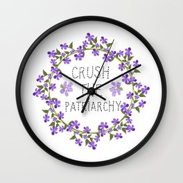 crush the patriarchy Wall Clock