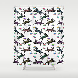 FRISBEE DOGS Shower Curtain