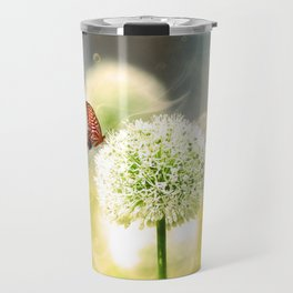Allium fantasy flowers with butterfly Travel Mug