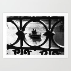 We are in the same boat Art Print