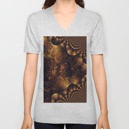 Fraktal Gold  Unisex V-Neck