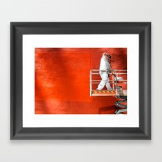 Wall of Orange Framed Art Print