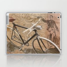vintage bicycle hipster Laptop & iPad Skin
