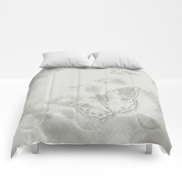 delicate butterflies and textured chevron pattern Comforters