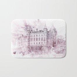 Lavender Watercolor Palace Bath Mat
