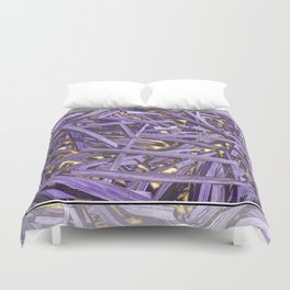 PURPLE KINDLING AND GLOWING EMBERS ABSTRACT Duvet Cover