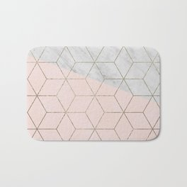 Florence dreams - marble geometric Bath Mat
