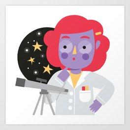Vera the Scientist Art Print