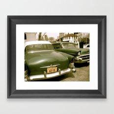 Vintage Cars in Brooklyn Framed Art Print