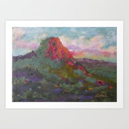 Thumb Butte at Sunset Art Print