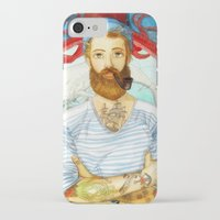moby dick iPhone & iPod Cases featuring Moby Dick by Rose Draft