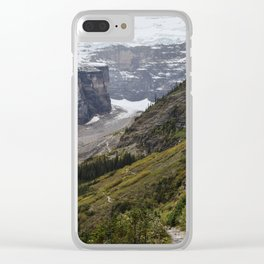 Trail to the Plain of Six Glaciers Teahouse Clear iPhone Case