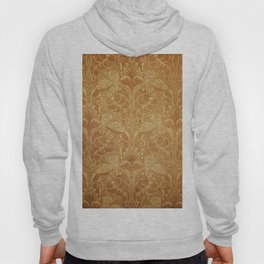 Old floral background in ancient style. Damask grunge hand drawn illustration Hoody