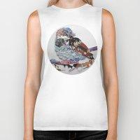 sparrow Biker Tanks featuring sparrow by Ruud van Koningsbrugge