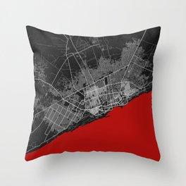 Mogadishu City Map of Somalia - Oriental Throw Pillow