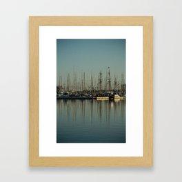 St. Malo Masts Framed Art Print
