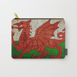Vintage Wales flag Carry-All Pouch