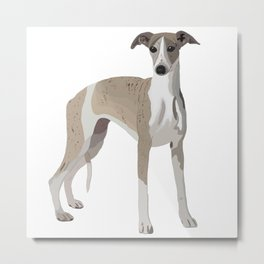 Whippet Love Metal Print