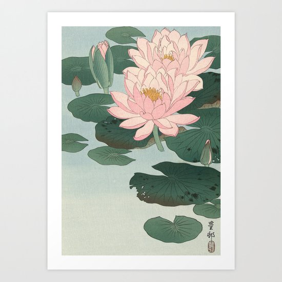 Flowering Water Lily, Ohara Koson by fineearthprints